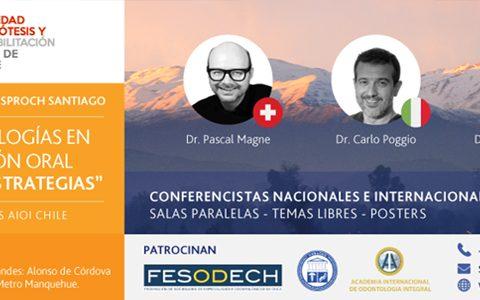 Congreso internacional de la Sociedad de Prótesis y Rehabilitación Oral de Chile.